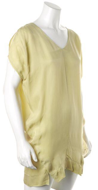 ALLSAINTS Pear Green Cold Shoulder Camille Tee Shift Dress