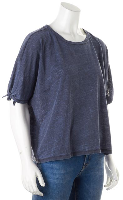 ALLSAINTS Heather Blue Short Sleeve Crewneck Catkin T-Shirt