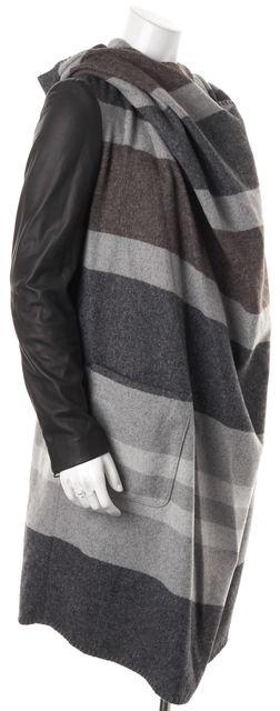 ALLSAINTS Gray Plaid Check Madison Parka Coat