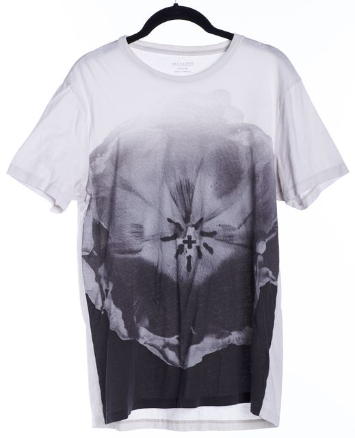 ALLSAINTS Multi-Gray Floral Graphic Tee