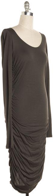 ALLSAINTS Gray Milla Ruche Stretch Dress