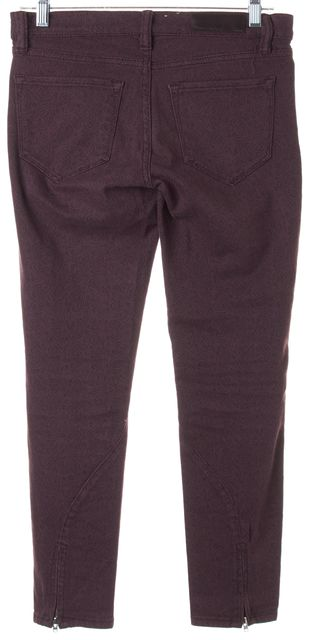 ALLSAINTS Purple Paisley Stretch Cotton Ambie Brodie Skinny Jeans