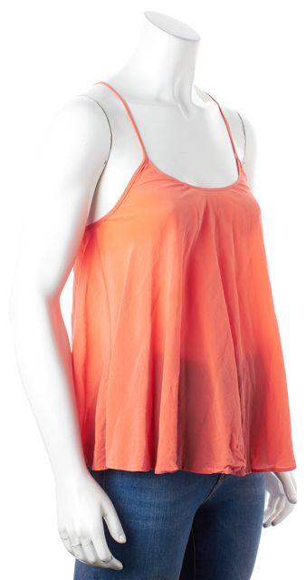 ALLSAINTS Orange Silk Cami Blouse