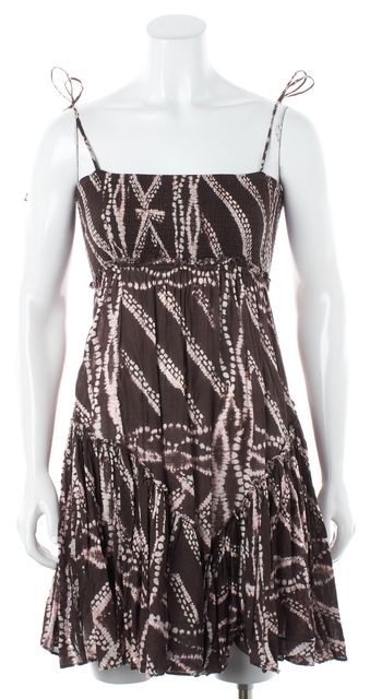 ALLSAINTS Brown Abstract Sundress