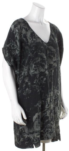 ALLSAINTS Black Floral Silk Shift Dress