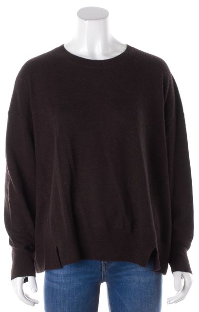 ALLSAINTS Purple Wool Cashmere Atlas Crew Neck Jumper Crewneck Sweater