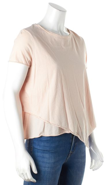 ALLSAINTS Pale Pink Tiered Daisy Tee T-Shirt