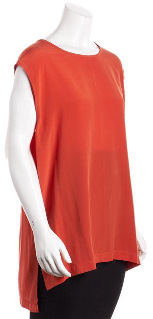 ALLSAINTS Orange Sleeveless Silk Blouse