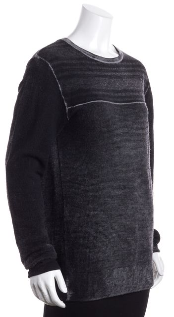 ALLSAINTS Light Gray Geometric Crewneck Sweater