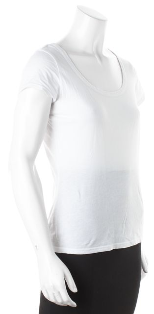 ALLSAINTS White Scoop Neck Slouchy Basic Tee T-Shirt