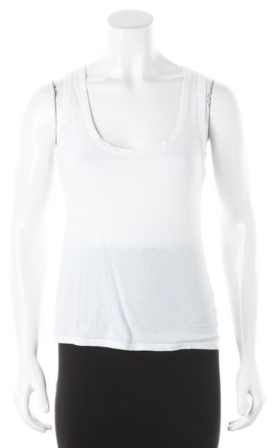 ALLSAINTS White Slouchy Cropped Tank Top