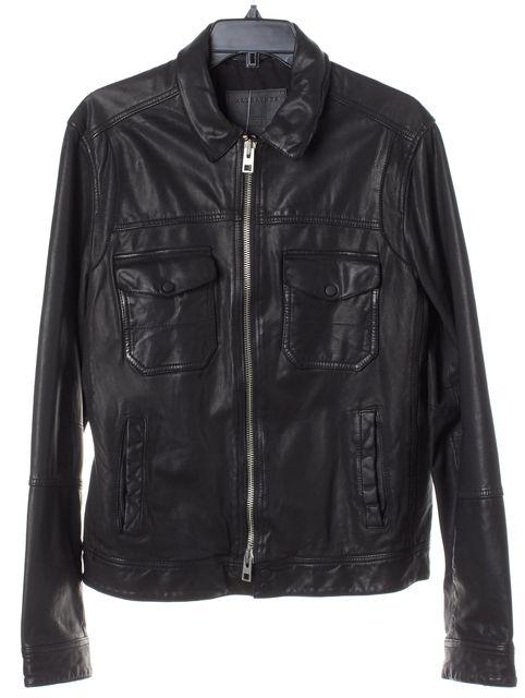 ALLSAINTS Black Zipper Front Motorcycle Jacket