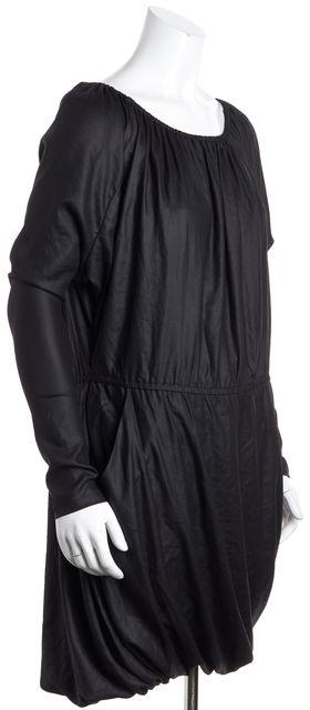 ALLSAINTS Black Elastic Neck Drape Back Bubble Dress
