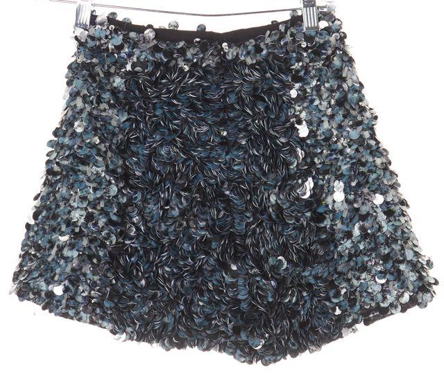 ALLSAINTS Silver Sequin Embellished Mini Skirt