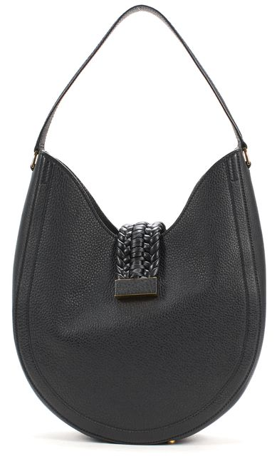 ALTUZARRA Black Ghianda Woven Leather Shoulder Hobo Bag