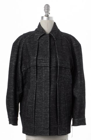 ALEXANDER WANG Gray Snap Button Up Coat Size 4