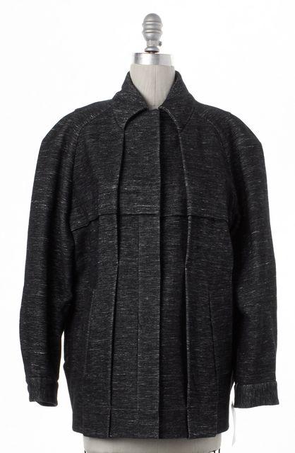 ALEXANDER WANG Gray Snap Button Up Coat