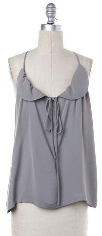 ALEXANDER WANG Gray Silk Top Size 4