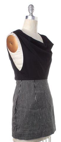ALEXANDER WANG Black White Open Back Sheath Mini Dress