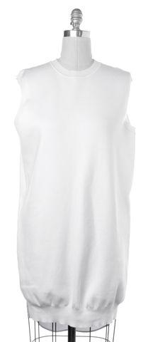 ALEXANDER WANG White Blue Neon Yellow Knit Shift Dress Size L