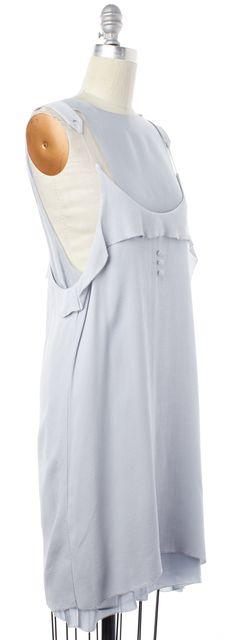 ALEXANDER WANG Light Blue Sheer Sleeveless Shift Dress