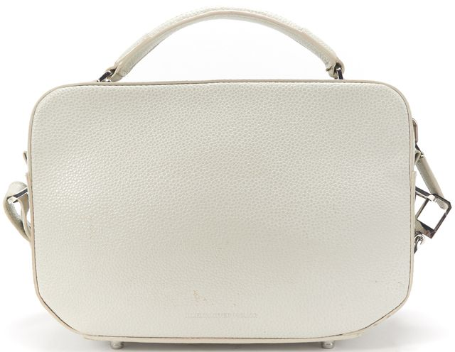 ALEXANDER WANG Gray Pebbled Leather Structured Top Handle Crossbody Bag