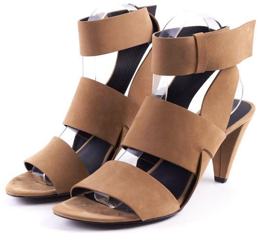 ALEXANDER WANG Tan Suede Double Strap Heels Sz 39