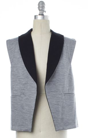 ALEXANDER WANG Gray Open Vest Size 4