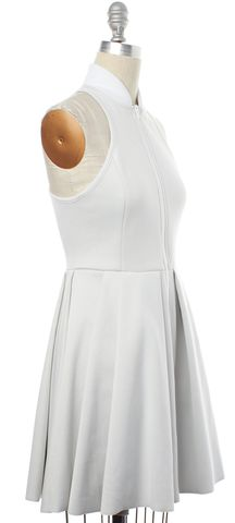 ALEXANDER WANG Gray Pleated Fit & Flare Dress Fits Like Size XS