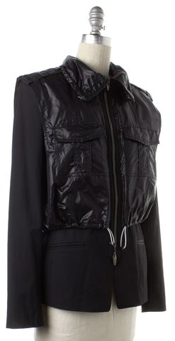 ALEXANDER WANG Black Layered Puffer Blazer Basic Jacket Fits Like Size 4
