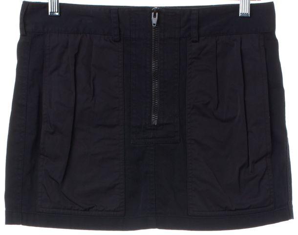 ALEXANDER WANG Black Zip Up Mini Skirt Size 4