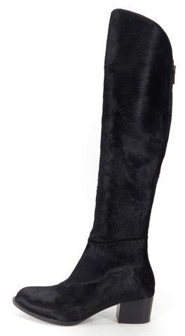 ALEXANDER WANG Black Calf Hair Knee High Sigrid Boots Size 39