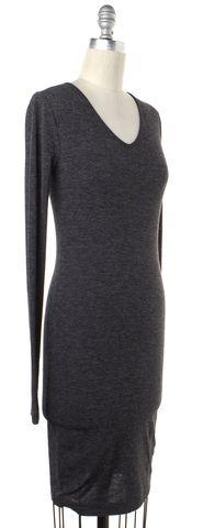 ALEXANDER WANG Gray Long Sleeve V-Neck Bodycon Dress Size S