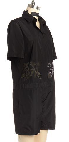 ALEXANDER WANG Black Silk Floral Lasercut Romper Size 4