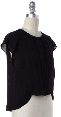 ALEXANDER WANG Black Button Down Crop Top Size S