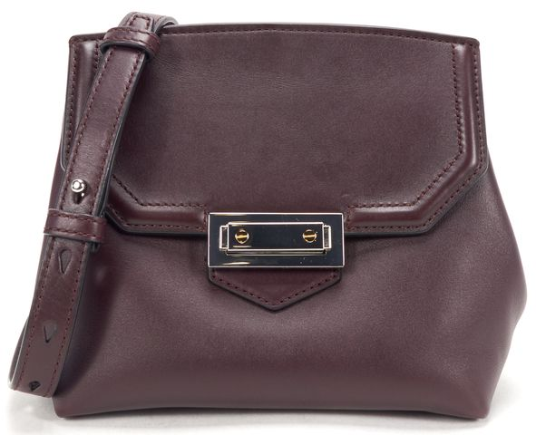 ALEXANDER WANG Authentic Oxblood Red Leather Marion Crossbody Flap Bag