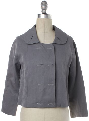 ALEXANDER WANG Gray Snap Button Jacket Size 2