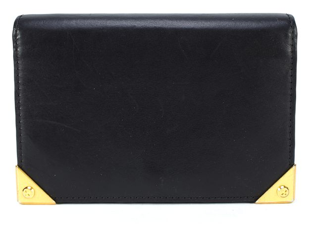 ALEXANDER WANG Authentic Black Leather Fold Over Wallet