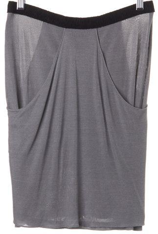 ALEXANDER WANG Gray Pleated Drape Tiered Skirt Size 6