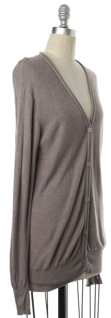 ALEXANDER WANG Gray Knit V-Neck Cardigan Sweater