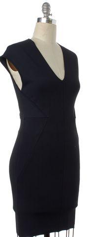 ALEXANDER WANG Blue Stretch V-Neck Sheath Dress