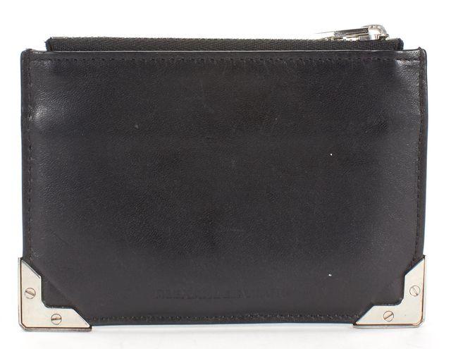 ALEXANDER WANG Black Leather Green Hued Wallet