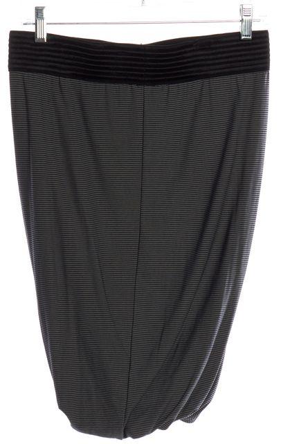 ALEXANDER WANG Green Black Striped Stretch Knit Skirt