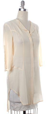 ALEXANDER WANG Ivory Silk Button Down Shirt Dress