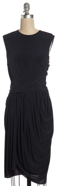 ALEXANDER WANG Black Ruched Sheath Dress