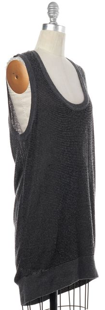 ALEXANDER WANG Gray Knit Sleeveless Top