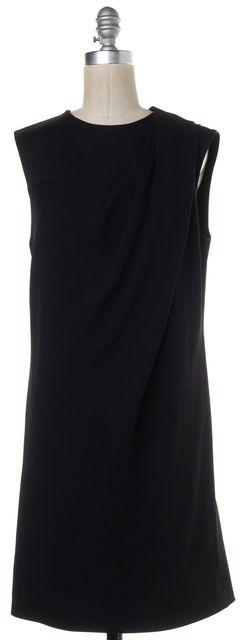 ALEXANDER WANG Black Draped Shift Dress