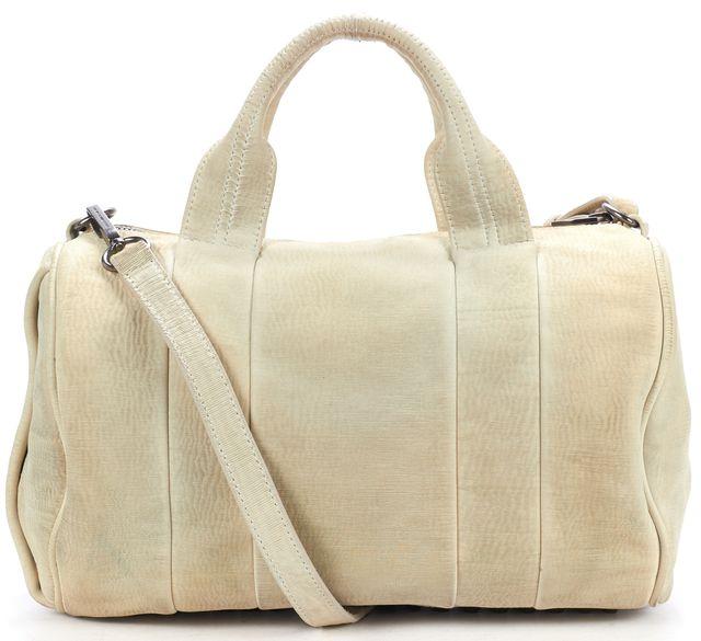 ALEXANDER WANG Ivory Textured Leather Rocco Studded Shoulder Bag