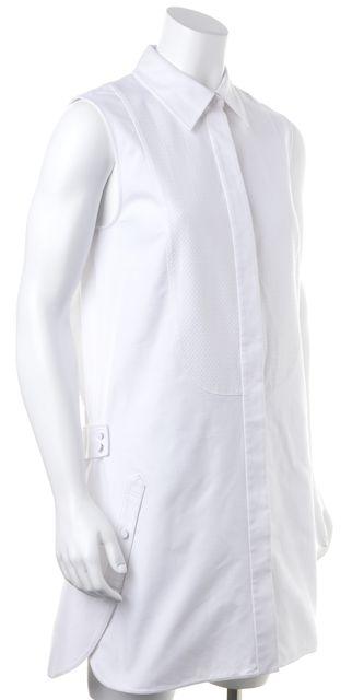 ALEXANDER WANG White Button Down Casual Sheath Dress
