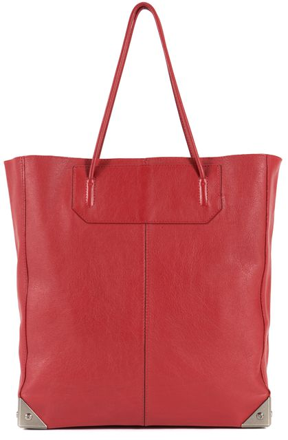 ALEXANDER WANG Red Pebbled Leather Prisma Shoulder Bag Tote